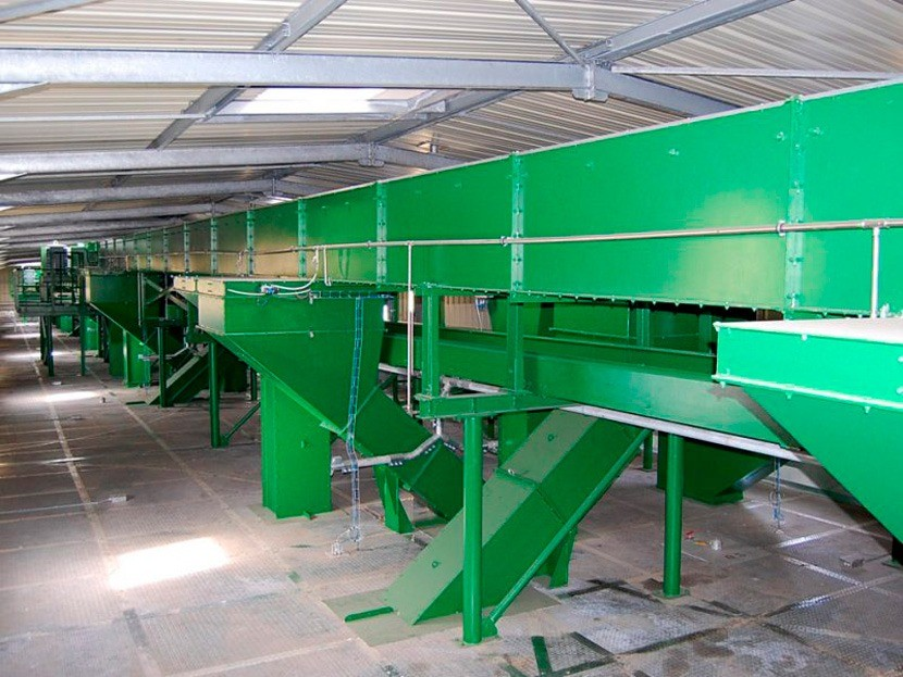 Centre Grain silo portuaire avec réseaux complexes CERES Agro-industrie